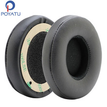 POYATU Replacement Ear Cushion Earpads For Solo 2 Wireless Ear Pads Earbuds For Beats Solo3 Wireless Headphone Earpads Black