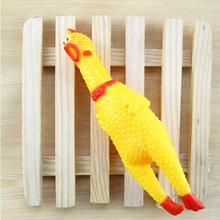 Cachorro Jouet Chien Pet Dog Toy Squeak Squeaker Chew Gift 17CM Yellow Screaming Rubber Chicken Perros Brinquedos(China)