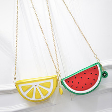 Watermelon Orange Shaped Bag Evening Clutch Bag Fruit Chain Messenger Small Crossbody Bags For Women Purses LXX9(China)