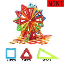 106PCS Ferris Wheel Magnetic Designer Multicolor Enlighten Part DIY Bricks Magnetic Building Blocks Toys For Children(China)