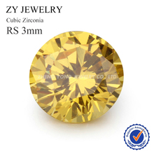 3.0mm Round Machine Cut Synthetic Gemstone AAA Quality CZ Zircon For Jewelry Making(China)