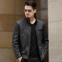 2017 New Arrival Spring Men's Jackets Solid Fashion Coats Male Casual Slim Stand Collar Jacket Men Thin coat Overcoat M-5XL(China)