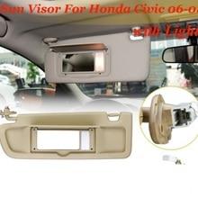 Car Left Driver Side Sunvisor Sun Shield Antidazzle Visor For Honda CIVIC  2006- 2011With Mirror d88b914b1ee
