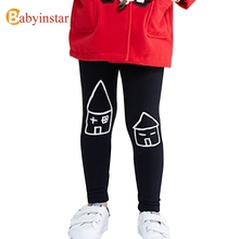Boys Girls Leggings Spring Autumn New Small House Pattern Kids Trousers Baby Bottom Good Quality Children's Clothing Kid's Pants(China)