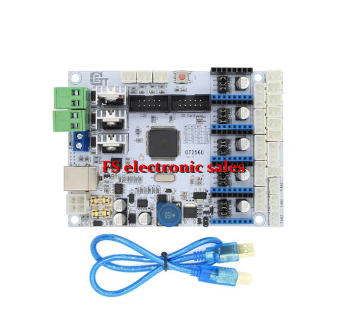 GT2560 3D printer controller board ATmega2560 RAMPS1.4 Ultimaker Prusa Support Dual Extruder Power Than ATmega2560 Ultimaker<br><br>Aliexpress