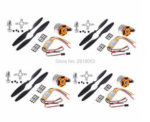 4Pcs A2212 1000KV / 1400kv Brushless Outrunner Motor + 30A Brushless ESC +1045 Ptopeller for  F450  S500 S550 Multi-totor