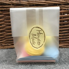 100 Cellophane Scrub Cookie Bag / For Gift Bakery Macaron Packing Packaging / Christmas