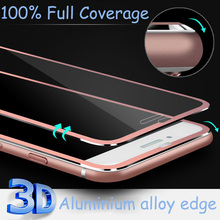 New Design Luxury Clear Front Titanium 3D Curve Fit Full Coverage Screen Protector Tempered Glass for iPhone 6 6s 4.7 6Plus 5.5'