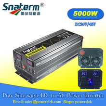 Solar Grid off Inverter 5000W/5KW Surge Power 10000KW/10KW DC24V/48V to AC220V/230V/240V,50HZ Solar Pure sine wave Converter