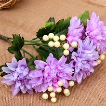 Warm decoration Artificial Flower Wedding Home Decor Bouquet Dahlia Silk Flower Fake Flower
