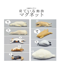 Japanese healing sleeping zoo animals collection 1 cat Garfield penguin Polar bear seal pug corgi figures