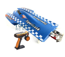 E22 RTR Tiger Teeth Fiber Glass Racing Speed Boat W/2550KV Brushless Motor/ 90A ESC/Remote Control Catamaran RC Boat Blue