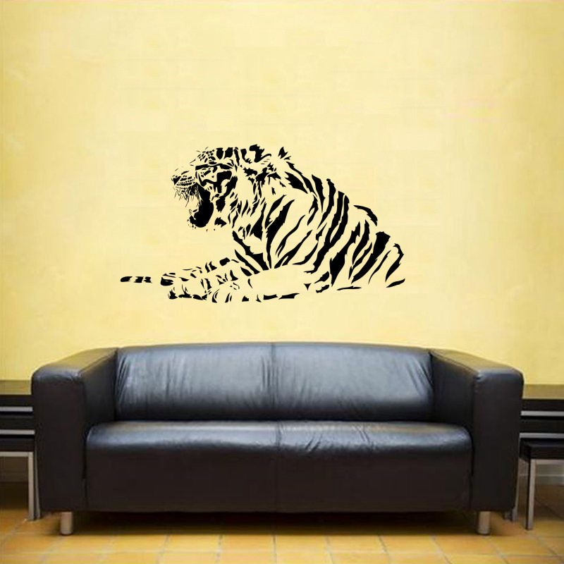 DCTAL Tiger Wall Sticker Tigre Decal Unicornio Posters Vinyl Wall Art Decals Pegatina Car Decal Decor Mural Animal Sticker