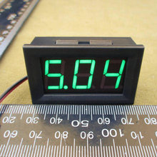 Hot DC 4.5-30V GREEN  LED 3-Digital Display Voltage Voltmeter Panel Motorcycle DC 4.5v-30v  voltmeter 6v 9v 12v 24v #0100