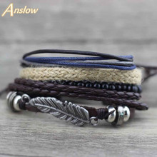 Buy Anslow Punk Turkish Wing Bracelets Women Men Beads Wristband Cuff Leather Bracelet Ethnic Vintage Jewelry LOW0260LB for $1.82 in AliExpress store