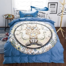 fashion owl boys bedding set duvet cover bed sheet pillow cases bed linen set queen single size