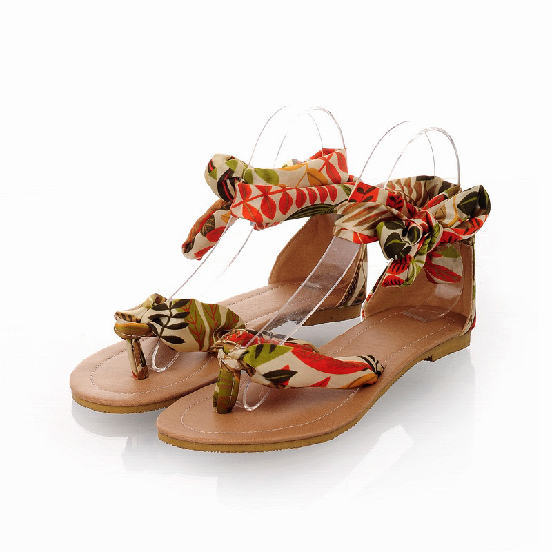 New Lace flat sandals summer flat womens sandals Institute of silk sweet Slides beach fashion female sandals<br><br>Aliexpress
