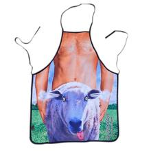 Novelty Cooking Kitchen Apron Sheep and Naked Man Pattern Sexy Apron Cooking Grilling BBQ Apron(China)