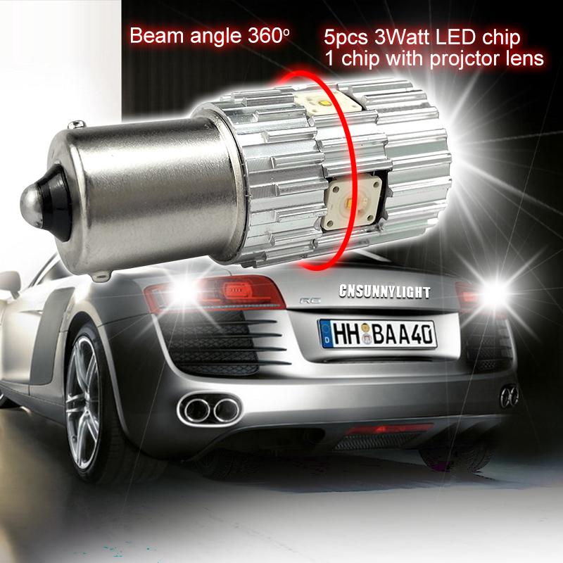 CNSUNNYLIGHT 2pcs 1156 LED BA15S P21W BAU15S PY21W S25 5Osram Chips 6000K White DRL Car Tail Fog Bulbs Brake Light Reverse Lamp (9)