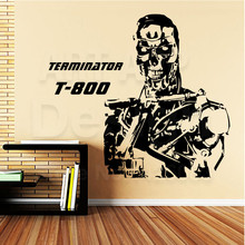 Good quality art design cheap vinyl home decoration terminator T-800 wall sticker removable house decor robot room decals