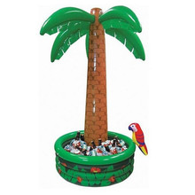 Hawaii Series 180 cm Large Inflatable Coconut palm Tree Drinks Cooler Ice Bucket For Sandbeach Party Decorations Supplies toys(China)