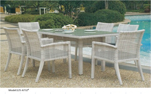 Outdoor patio dining table set furniture factory in China