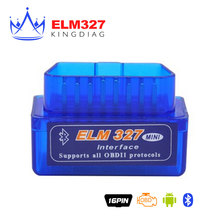 Mini ELM327 Bluetooth 2.0 Interface V2.1 OBD2 OBD 2 Auto Diagnostic-Tool ELM 327 Works ON Android Torque/PC v 2.1 BT adapter
