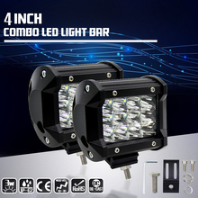 Car-Styling 36W LED Work Light 12V CREE Chips 24V Off Road Driving 12 LED Spot Light Bar for Motorcycle Tractor Boat Moto(China)