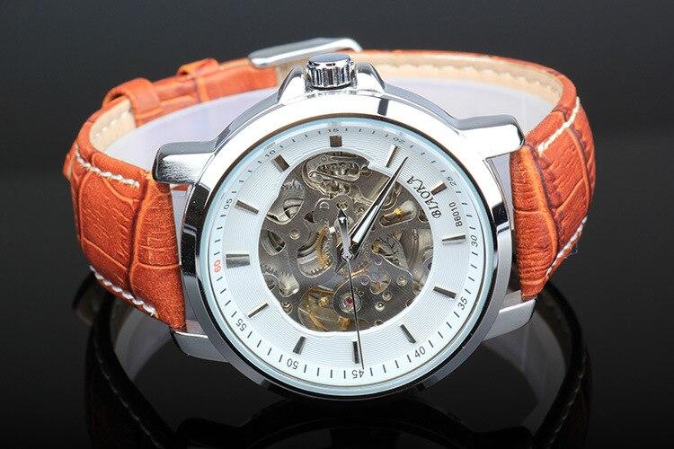 Brand Mens BIAOKA watch men waterproof mechanical watch Leather wristwatch 2017 luxury business watch skeleton reloj hombre<br>