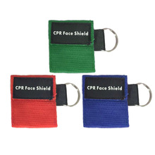 First Aid Mini CPR Keychain Mask / Face Shield Barrier Kit Health Care Masks Drop Shipping Wholesale