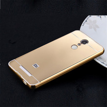 Xiaomi Redmi Note 3 Case Xiaomi Redmi Note 3 Cover Note3 Alumium Metal Frame And Plastic Back Shell Luxury Hard Case 5.5 Inch(China)