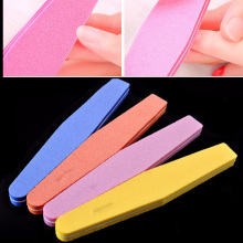 10Pcs/Lot Mix Color Nail Files Sponge Diamond Nail Buffer File Washable Lime Unghie 100/180 Nail Polish Buffer Block Suppliers(China)