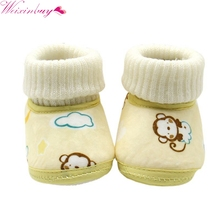 Baby Shoes Infants Crochet Knit Fleece Boots Toddler Girl Boy Wool Snow Crib Shoes Winter Booties Baby girl shoes(China)