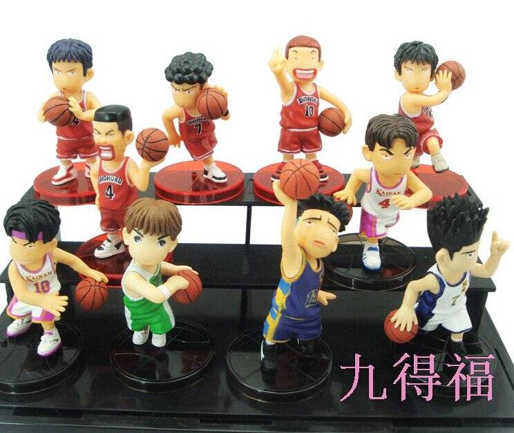 10pcs/set 8cm Slam Dunk Sakuragi Hanamichi Action Figures PVC brinquedos Collection Figures toys for christmas gift<br><br>Aliexpress