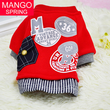 New Cotton Dog Sweater Shirt Pet Clothes Fashion Baseball Uniform Jersey Coat Clothing for Small Dogs Apparel 2016(China)