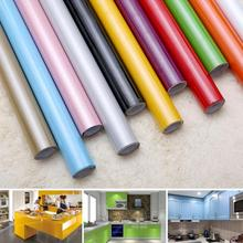 Self adhensive Wallpaper Paint Flash PVC Wall Stickers Kitchen Cupboard Door Furniture DIY Stickers Vinyl Decorative 0.6mx2m(China)