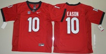 2017 Nike North Georgia Bulldogs Jacob Eason 10 College Ice Hockey Jerseys - Red Size M L XL 2XL 3XL(China)