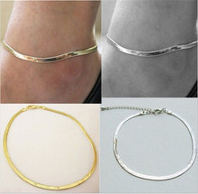 1Pcs New Fashion 1Pcs Foot Jewelry Women Girls Ankle Bracelet Anklet Beach Chain Anklets Silver Gold Colors Wholesale