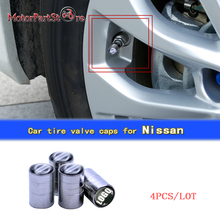 4pcs/lot Auto Car Tire Wheel Rims Stem Air Valve Caps Tyre Cover Car Tire Valve Air Caps for Nissan $(China)