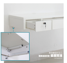 Painting hanging computer desk. The walls of the small drawer with hanging on the wall desk. 0.86 meters with double drawers(China)