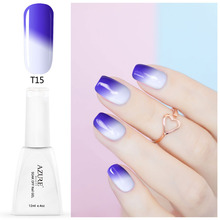 Azure 12ML Temperature Chameleon Nail Gel Polish Thermal Color Change UV GeL Nail Soak Off Gel Nail Polish Changing Color Gel
