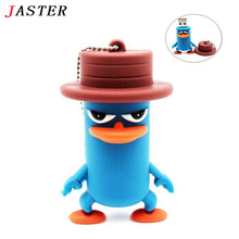 JASTER 100% Real Capacity mini Donald Duck USB Flash Drive pendrive 64GB 32GB 16GB 8GB 4GB animal memory stick thumb card Gift