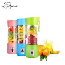 LMETJMA Portable 380ML USB Electric Fruit Juicer Mini Handheld Smoothie Maker Rechargeable Electric Fruit Juicer Bottle KC0805-1(China)