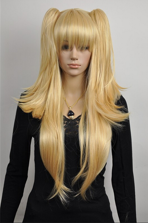 parrucca perruque 508+++Mixed Light Golden Heat Resistant Cosplay Wig Women Hair + 2 Ponytails<br><br>Aliexpress