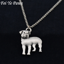 Real Picture Vintage 3D Rottweiler Pendant Necklaces Colar Boho Dog Pet Charms Pendants For Women Men Jewelry Best Friend Gift(China)