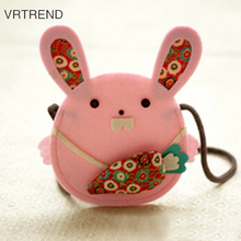 VRTREND Cloth Art Purse Hand Bag Coin Purse Key Shoulder Bag Card Package Clutch Handle Bags Girls Wallets Small Card Package