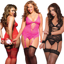 S M XL 3XL 4XL 5XL 6 XL Plus Size Lingerie Women Lingerie Sexy Hot Erotic Baby doll Sexy Lingeries with Handcuff Teddy Costumes