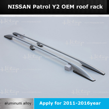 OEM model roof rack roof rail luggage rack bar for Nissan new Patrol Y2 2011-2016, 5years' SUV experiences, promotion price