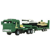 KAIDIWEI Military vehicle model 1:64 Trailer with small tank car military children toy car model(China)