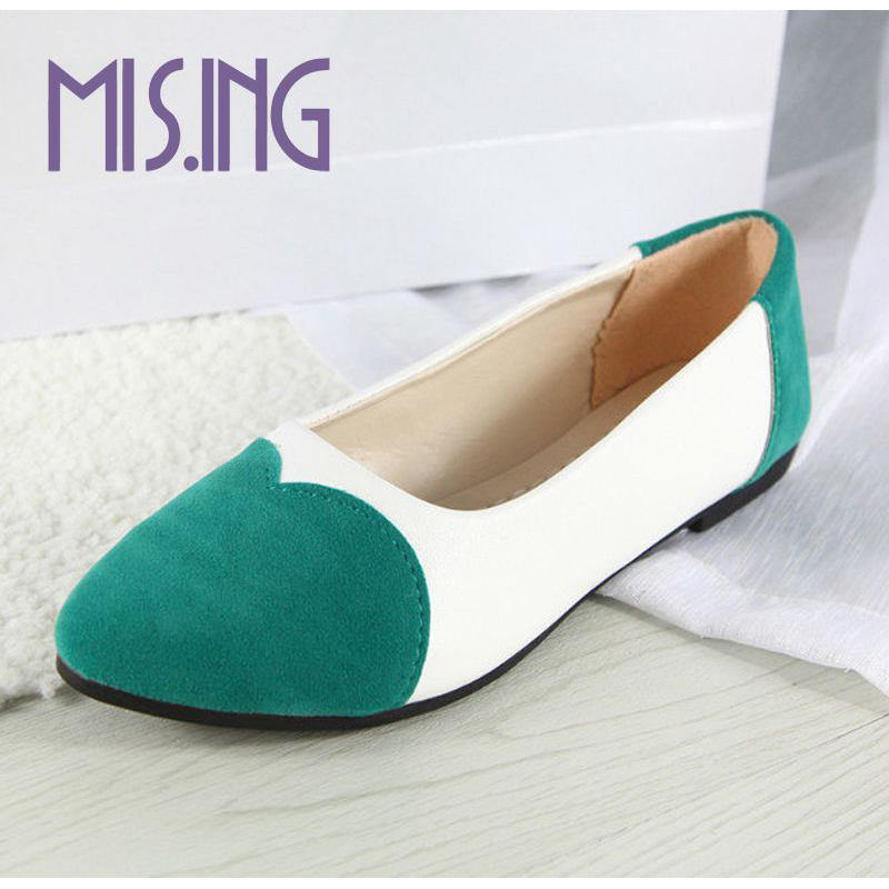 Hot sales women shoes fashion Flock flats shoes Nubuck Leather Mixed Colors Spring/Autumn students Slip-On Round Toe Lazy shoes<br><br>Aliexpress